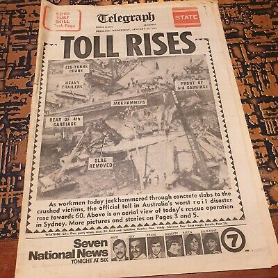 Granville Train Disaster - Newspaper Cover - January 19th 1977