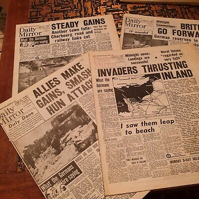 Four June 1944 Daily Mirror Reprints (1984) - Wartime