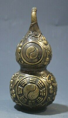 China Copper Pure Bronze hand-made gourd statue