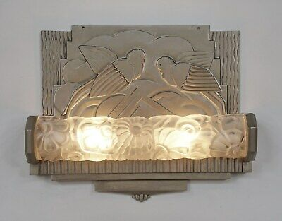 GENET ET MICHON : FRENCH ART DECO WALL LIGHT 1925 1930 SCONCE ....... muller era