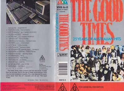 The Good Times 25 Years Of Australian Hits  Vhs Pal Video~A Rare Find