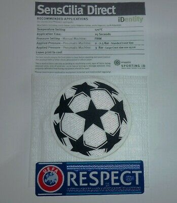 Champions League - Respect And Star Ball Sets - Sleeve Patch - Ucl European Sets