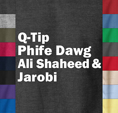 Q-TIP PHIFE DAWG ALI T-Shirt A Tribe Called Quest ATCQ Questlove The Roots Tee
