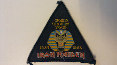 USED Iron Maiden world slavery tour VINTAGE patch Sew On music USED aufnaher