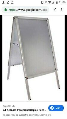 A1 Pavement Poster Sign A-Board- Snap Frame Shop Display Stand