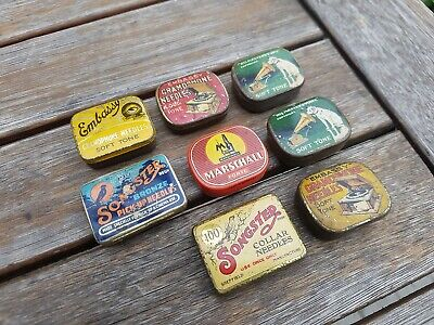 "Lot 8 Vintage Needles Ad Box ""Songster, Masters Voice, Marschall, Embassy"""