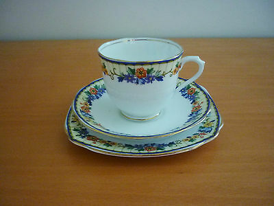 Beautiful Vintage Royal Albert Crown China Trio Set - Cup, Saucer & Side Plate