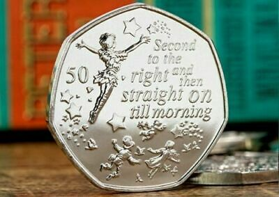 PETER PAN 50p COIN PETER FLYING 90th ANNIVERSARY 1 COIN ONLY IN HAND POST TODAY