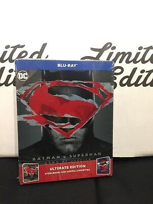 BATMAN V SUPERMAN -2 blu ray-Ultimate edition-STEELBOOK-limited-ed.italiana-DC