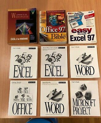 Vintage Windows Office PC software manuals - Used