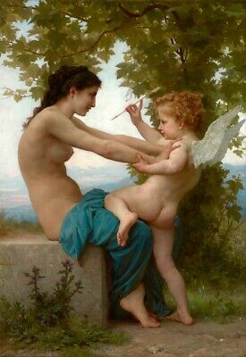 Handpainted Figure Oil Painting On Canvas Reproduction Of Classical Art RB113