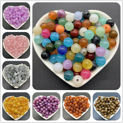 6/8/10mm Acrylic Spacer Beads Charms Clouds Beads Round Loose For Jewelry Making