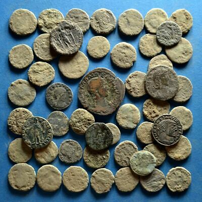 Lot of 50 Uncleaned Roman Bronze Coins #2