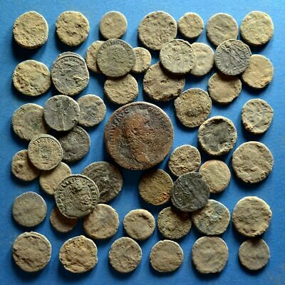 Lot of 50 Uncleaned Roman Bronze Coins #3