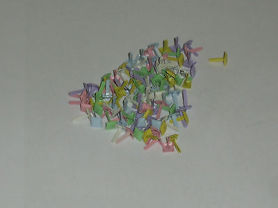 Card Making/Scrapbooking - 100 x 5mm square brads in pastel shades