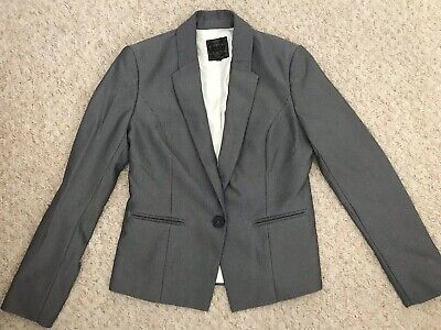 Women's Grey Tailored Fit Suit Jacket From Next Size 8