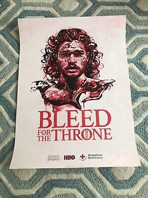 2 Bleed For The Throne Posters Jon Snow & Tyrion- GOT Game Of Thrones