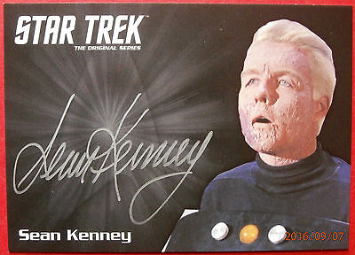 STAR TREK TOS 50th SEAN KENNEY as Captain Pike, LIMITED EDITION Autograph Card