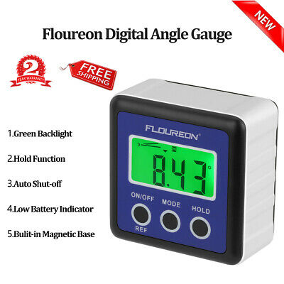 Digital Protractor Gauge Angle Finder Bcevel Level Box LCD Green Backlight IP54