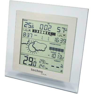 Wetterstation / WS 9257 IT / Thermometer / TechnoLine / Wetter / Farbe Alu