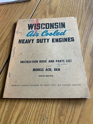 Wisconsin Air Cooled Heavy Duty Engines manual Models ACN, BKN