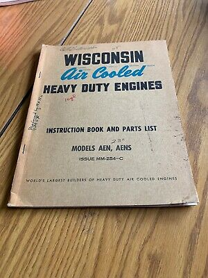 Wisconsin AEN Instruction Book Parts LIst Air Cooled Heavy Duty Engines Manual