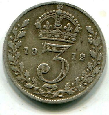 1912 Titanic Vintage Solid Sterling Silver Threepence White Star Line George V