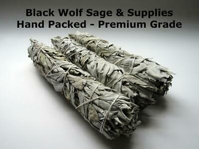 "Wholesale Bulk White Sage Smudge Bundle 9"" (Fresh Premium Grade - 2 Bundles)."