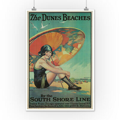 The Dunes Beaches Urgelles 1925 Vintage Ad (Posters, Wood & Metal Signs)
