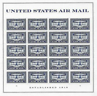 USPS Forever Postage Stamps 'Air Mail Commemorative - Blue' Sheet of 20