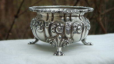 Antique New York, Ny Howard &Co Sterling Silver Repousse Open Master Salt Cellar