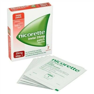 3x Nicorette Invisi Patch 25mg Step 1..7 patches