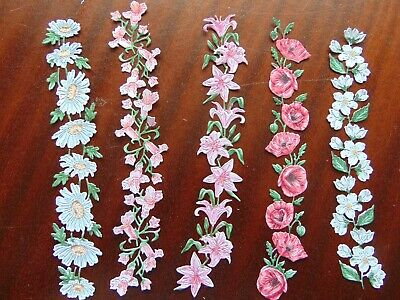 Tattered Lace Die Cuts Charisma FLORAL FRIENDS Flexi Frames Lily Daisy Poppy
