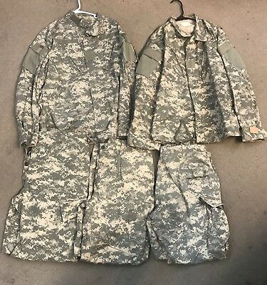 US ARMY ACU DIGITAL Large Regular Uniform Shirt & Pants CAMOUFLAGE Lot 5