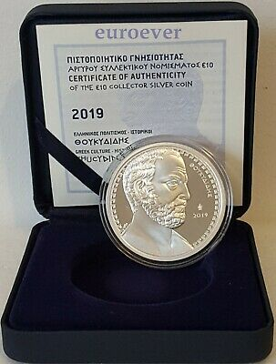 10 Euro PP Proof Griechenland Greece 2019 Thukydides 1.200 Stk