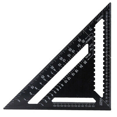 """12"""" 300Mm Aluminium Triangle Roofing Speed Rafter Angle Square Guide Measure"""