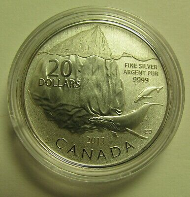 2013 Specimen $20 for $20 #9-Iceberg (Whale) Canada .9999 silver COIN ONLY twent