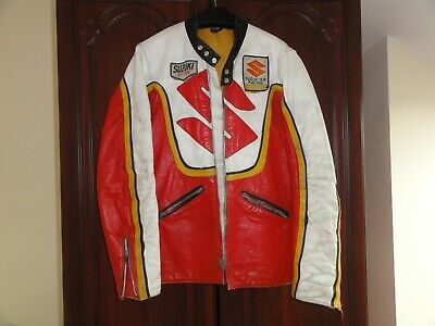 Vintage Suzuki Leather Bikers Jacket GT750