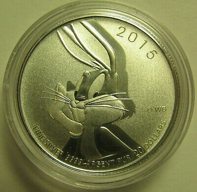 2015 Specimen $20 for $20 #16-Bugs Bunny Canada .9999 silver COIN ONLY twenty do