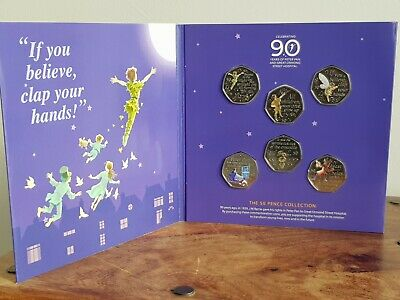 2019 The Peter Pan 50 pence Decal collection NEW MINT 50 p Coin