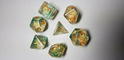 HD Dice Iridescent Nebula  7 x Polyhedral dice Set Luminous Koi D&D RPG