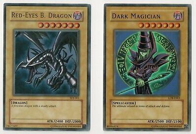 Lot Of 12 Rare Yu-Gi-Oh Cards Including Dark Magician (Lob) & Some 1St Editions