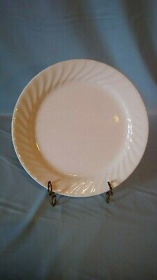 "One Corelle White Swirl Enhancements Pattern Dinner Plate 10-1/4"" Diameter"