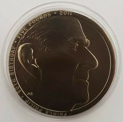 2011 Royal Mint Prince Philip 90th Birthday Five Pounds £5 Coin Uncirculated UK