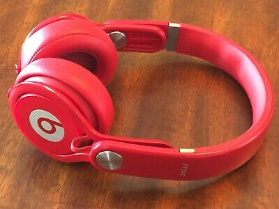 Beats by Dr. Dre Mixr Headband Headphones - Red GENUINE AUTHENTIC