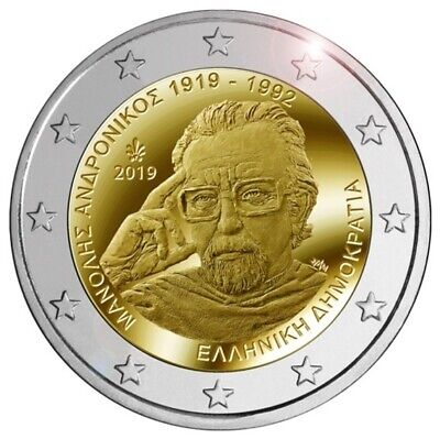 2 euro Greece 2019 - 100th anniversary of the birth of Manolis Andronicos