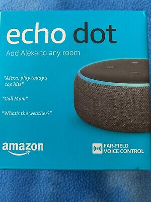 NEW! Amazon Echo Dot 3rd Generation w/ Alexa Voice Media Device - Charcoal