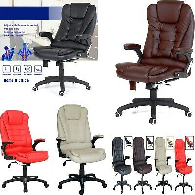 Office Chair Leather Gaming Recliner Swivel Computer Desk Managerial High Back