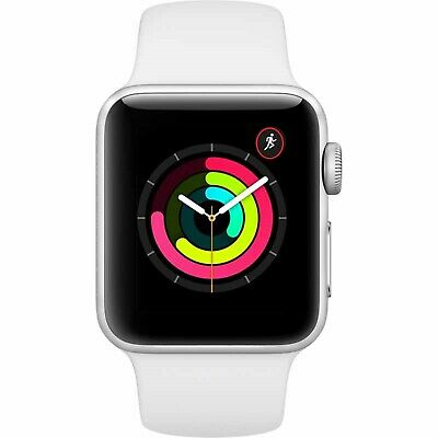 Apple Watch Series 3 GPS with White Sport Band 38mm Silver Model MTEY2LL/A