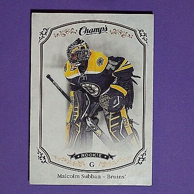 MALCOLM SUBBAN  RC  2015/16 UD Champ's Rookie #256  Vegas Golden Knights  SP